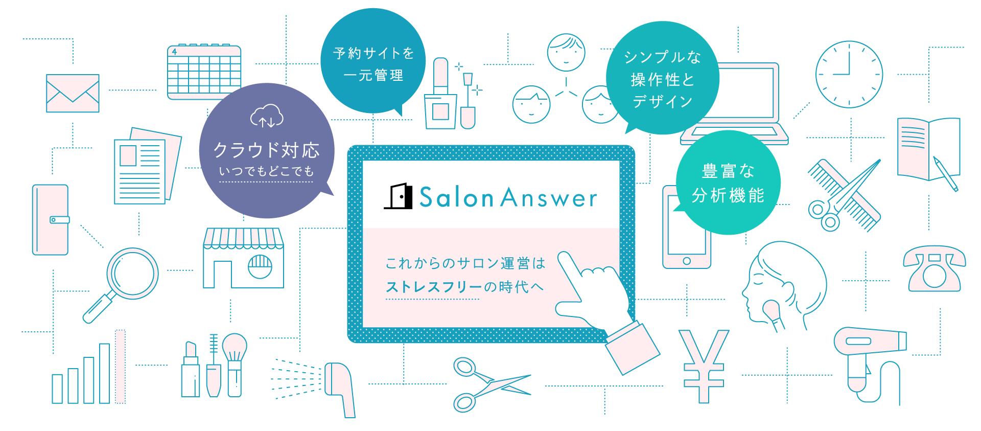 美容室の POS・顧客管理・ネット予約 | サロンアンサー